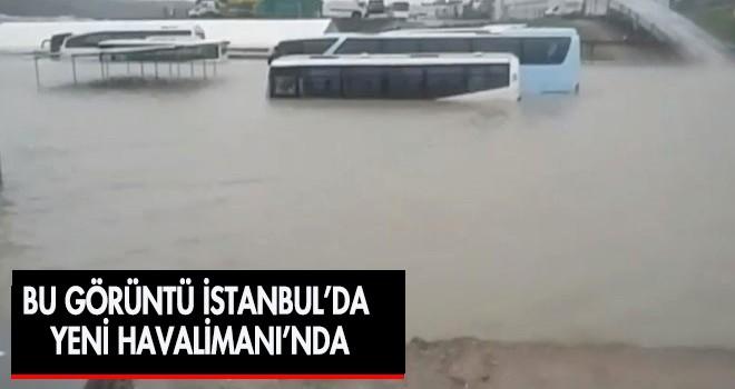 Yeni İstanbul Havalimanı Şiddetli Yağış Nedeniyle Su Bastı