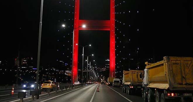 15 Temmuz Şehitler Köprüsü bu gece trafiğe kapatılacak