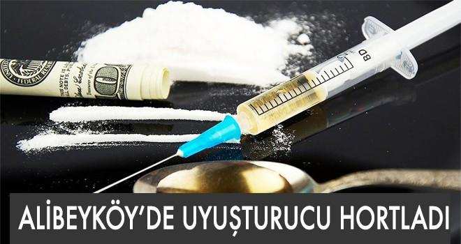 ALİBEYKÖY'DE UYUŞTURUCU HORTLADI