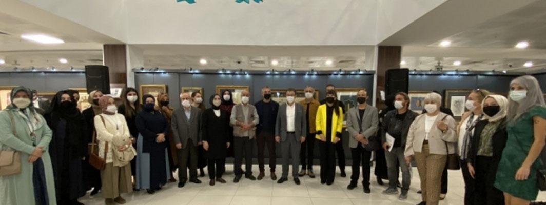 Eyüpsultan'da '41 eser 41 sanatçı' sergisi açıldı