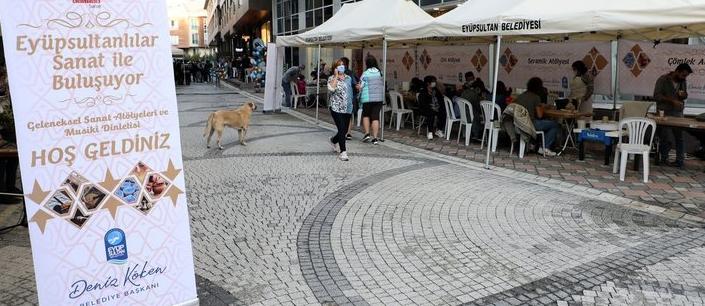 Göktürk'te sanat sokağı kuruldu
